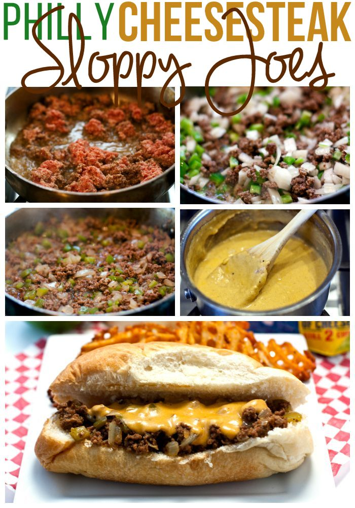 How to Make Philly Cheesesteak Sloppy Joes