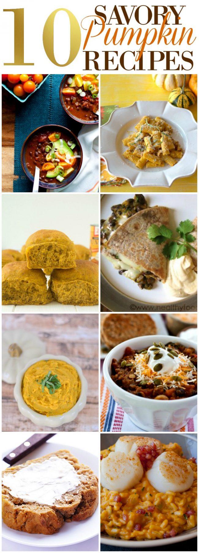 10 Savory Pumpkin Recipes