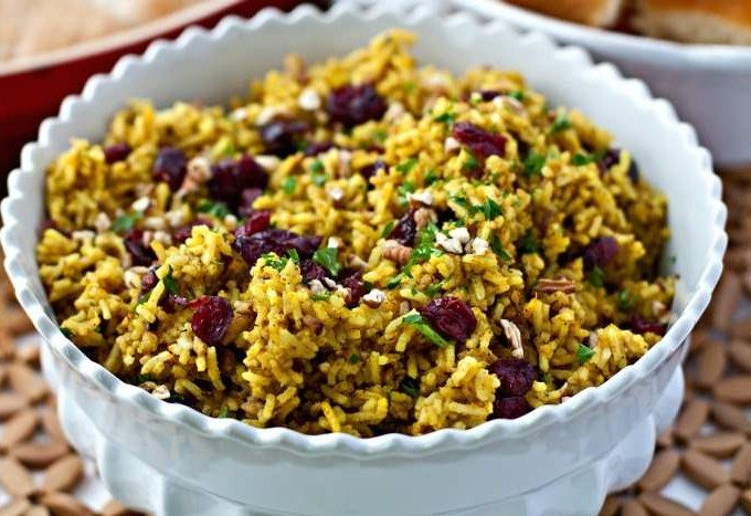 Cranberry-Pecan Curry Rice