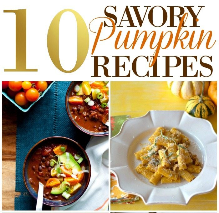 10 Savory Pumpkin Recipes for Fall