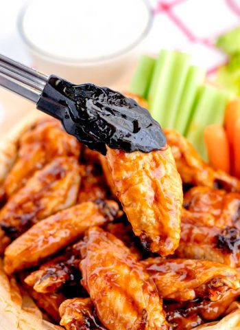 Baked Chicken Wings with Dr Pepper Wing Sauce