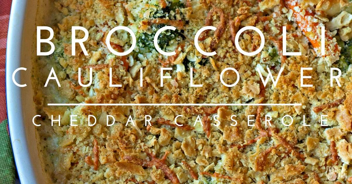 This Broccoli Cauliflower Cheddar Casserole is super quick & easy to prepare! Make it as a tasty side dish for your Thanksgiving table!