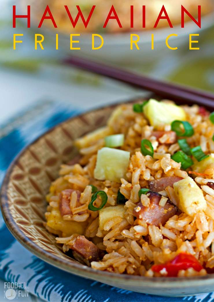 Put those holiday ham leftovers to good use by making this Hawaiian Fried Rice recipe. It's quick, easy and SO delicious!  via @foodfolksandfun