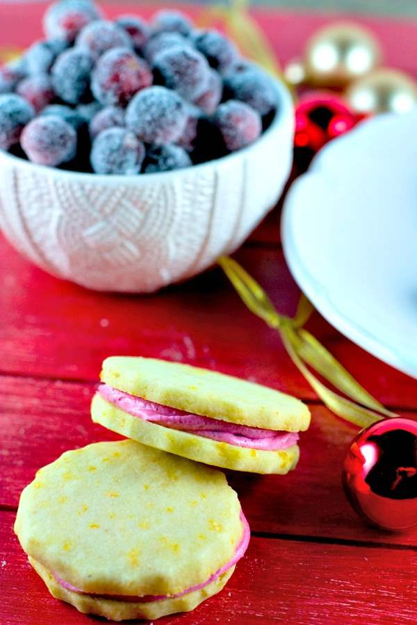 These Orange Cranberry Shortbread Cookies are so festive and perfect for parties, gifting or Christmas cookie exchanges.