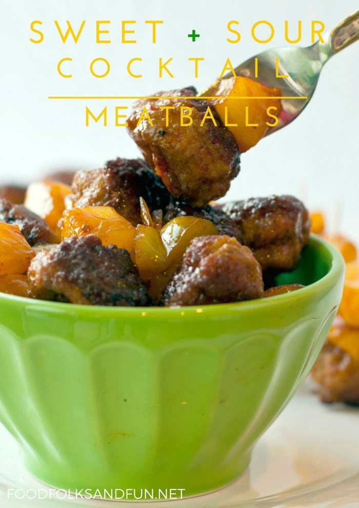 These Sweet and Sour Meatballs take the classic flavors of Sweet and Sour Pork and pack them into cocktail meatballs for an easy, crowd-pleasing appetizer.