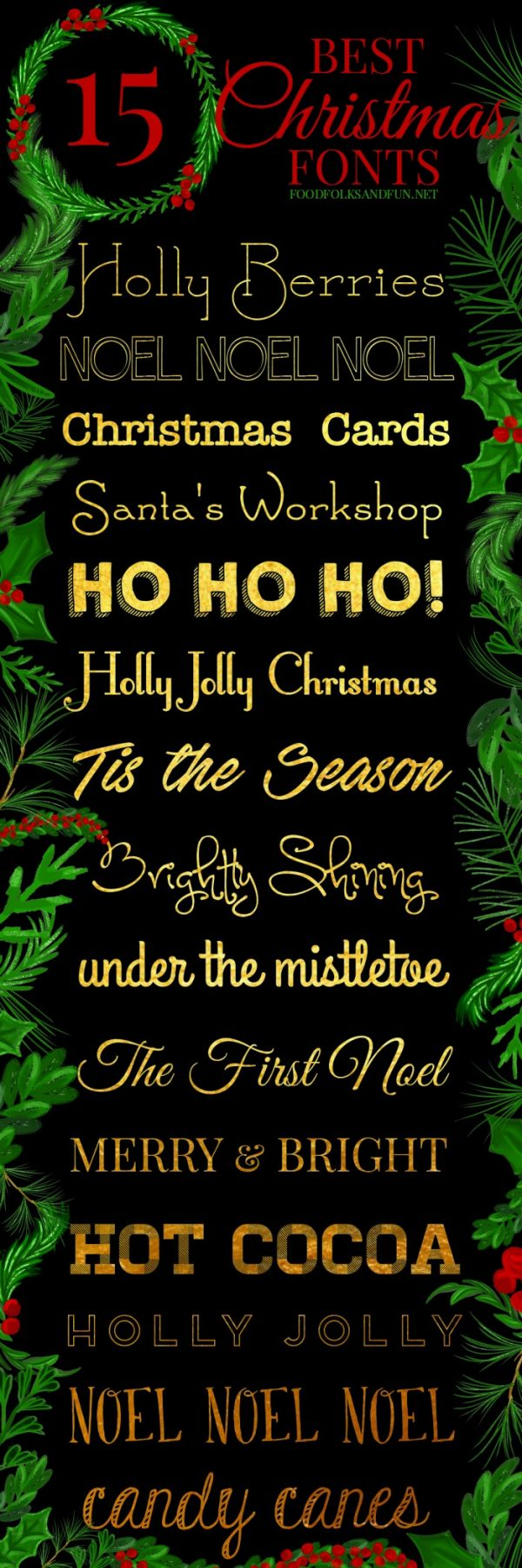 the best free christmas fonts these are perfect for all things holiday gift - Christmas Fonts Free