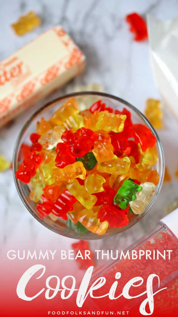How to Make Gummy Bear Thumbprint Cookies