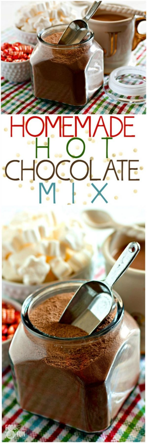 This homemade hot chocolate mix makes a rich, indulgent, chocolaty treat. It is SO easy to make, let me show you how to make it along with 4 flavor variations! via @foodfolksandfun