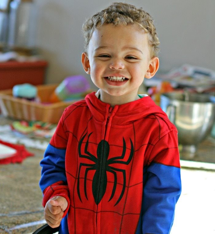 I mean just look at this smile; he I SO excited to help me make cookies!