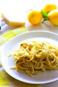 This Citrus Cream Pasta recipe is an easy, refreshing dinner that takes just 15 minutes!
