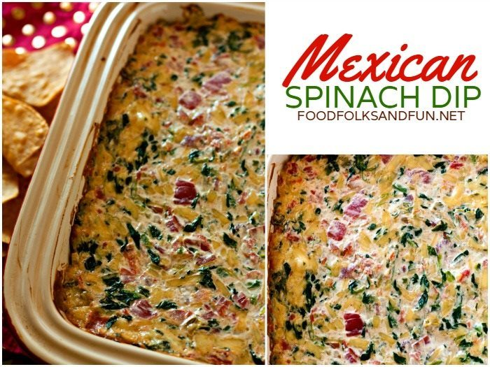 If you love spinach dip and Mexican food then you'll LOVE my Mexican Spinach Dip! It's a tasty Super Bowl recipe!
