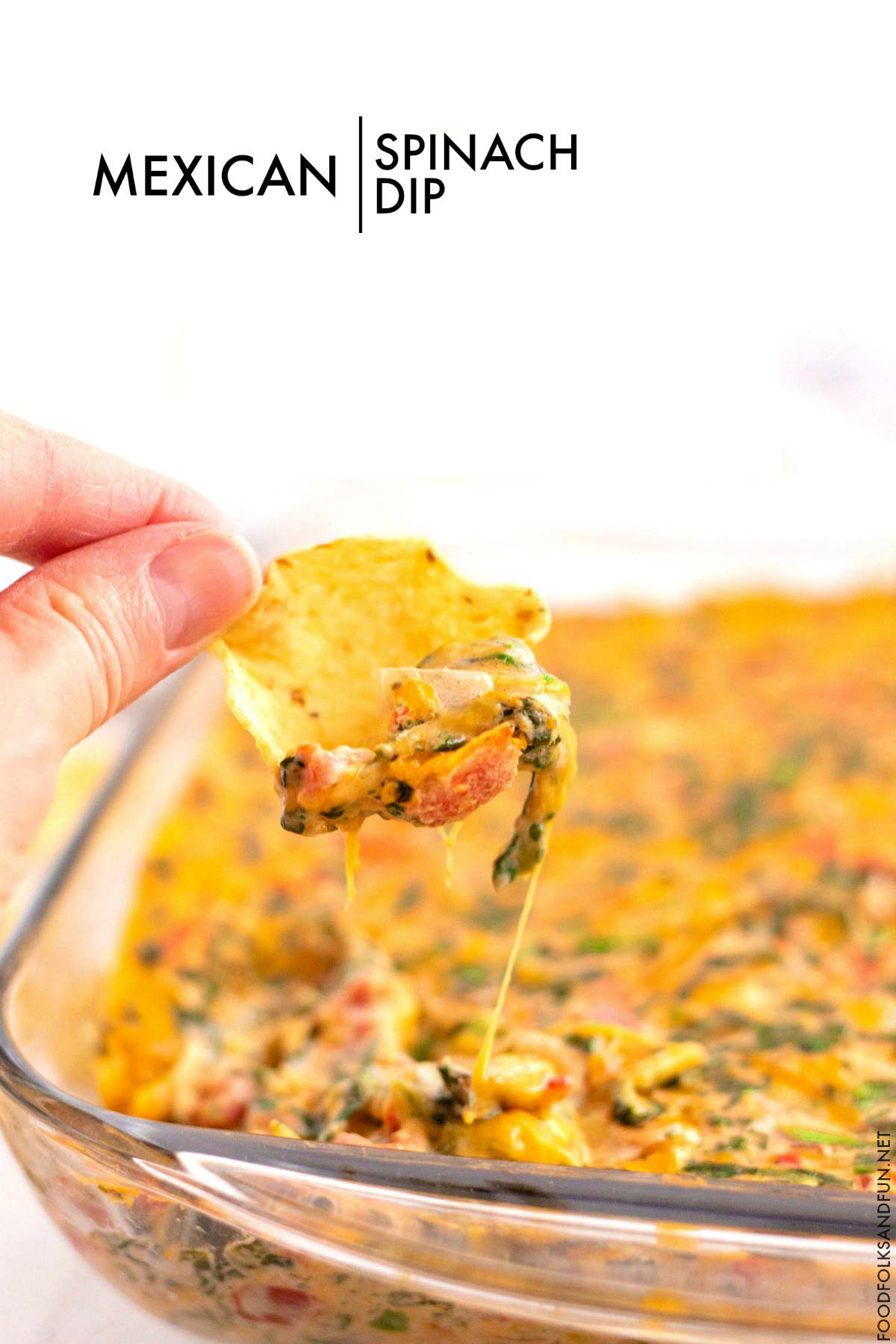 This Mexican Spinach Dip is some serious comfort food!