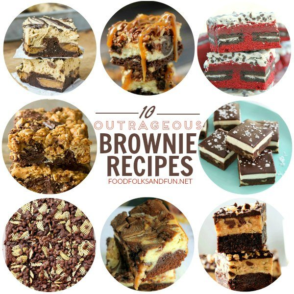 10 Outrageous Brownie Recipes: Whether you're a fan of crusty edges or fudgy, centers, there's something about brownies that keeps you coming back for more!