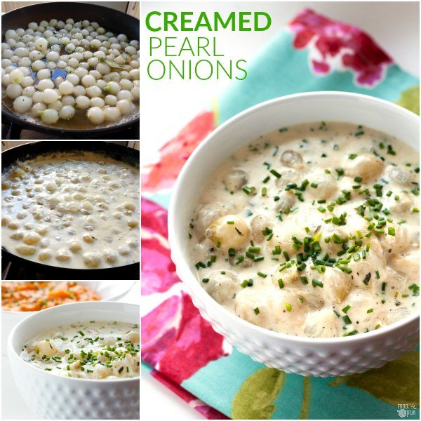These flavorful Creamed Pearl Onions are simmered in a silky cream sauce with a touch of nutmeg, bright chives, and a squeeze of lemon. They're the perfect side dish for Spring or Easter dinner!