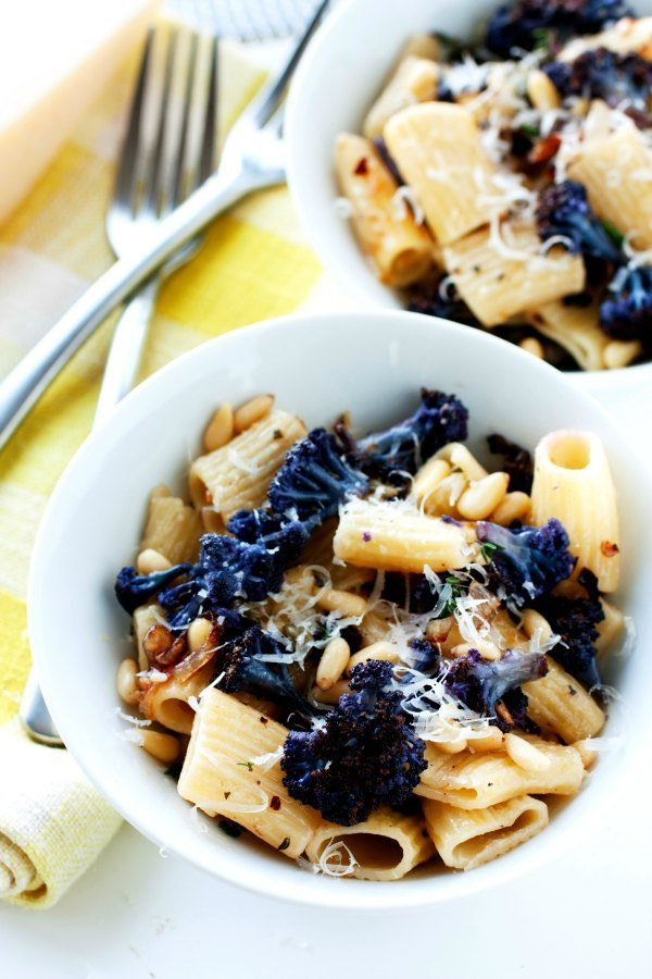 Roasted Cauliflower with Rigatoni