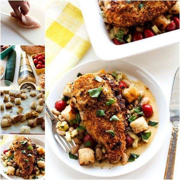 A collage of Goat Cheese Stuffed Chicken Breast