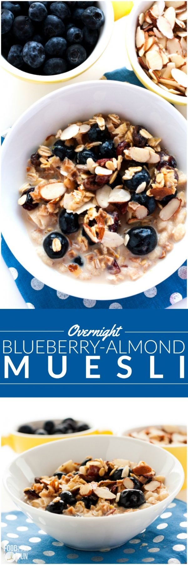 This Overnight Blueberry-Almond Muesli recipe is an easy grab-and-go breakfast for busy weekday mornings.