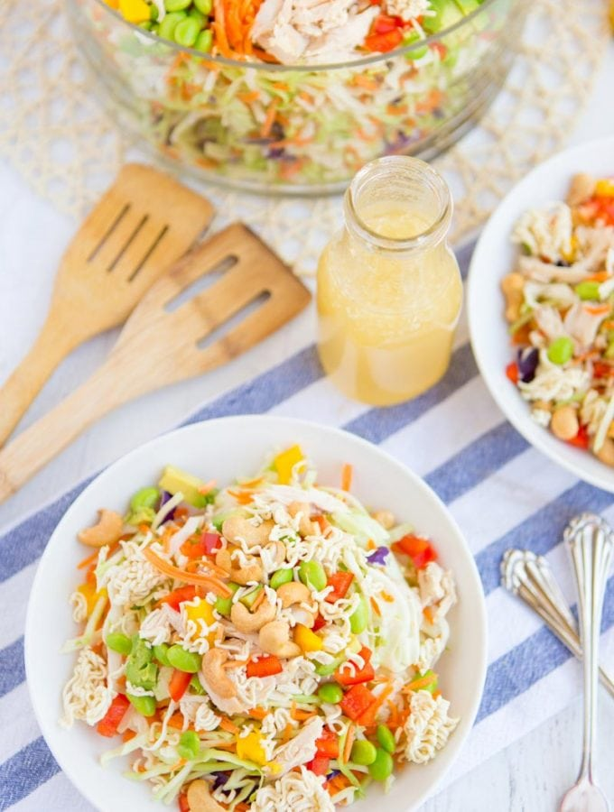 Simple Crunchy Ramen Noodle Salad