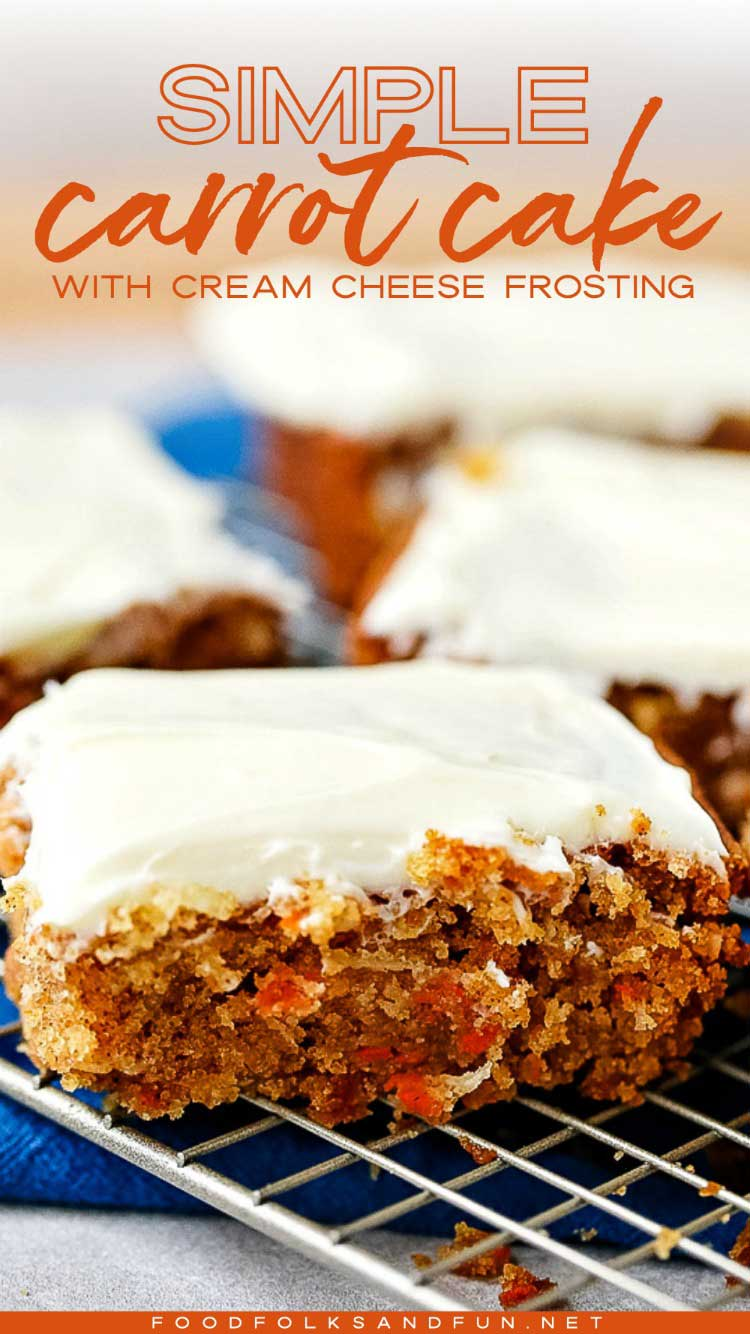 Spicy carrot cake with cream cheese frosting