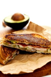 These Monterey Grilled Cheese Sandwiches are layered with Monterey Jack cheese, bacon, deli turkey, avocado, and pickled jalapenos. They're perfect for lunch or dinner and super easy to make!