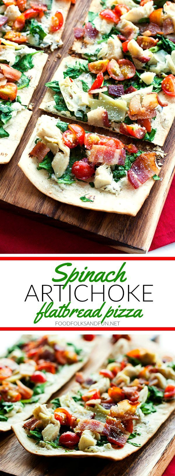 Grilled Spinach Artichoke Flatbread Pizza is a quick and easy dish for your next cookout. It's everything you love about the classic spinach artichoke dip but in a delicious flatbread pizza. Plus you can make this recipe in about 15 minutes!