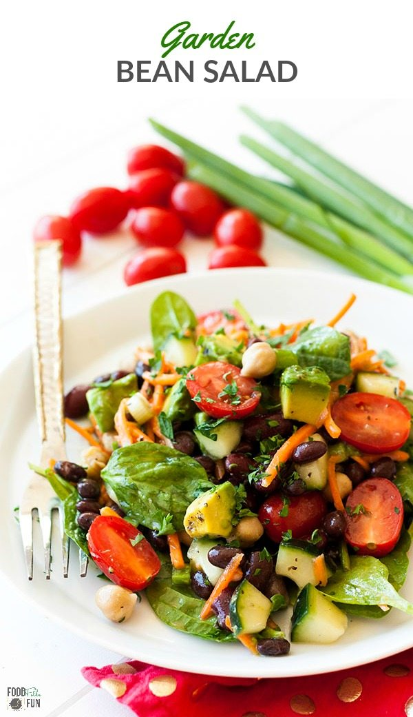 This Garden Bean Salad is perfect as a barbecue side dish, lunch, or even hearty enough for dinner! Plus is easy to make and easy on the budget!