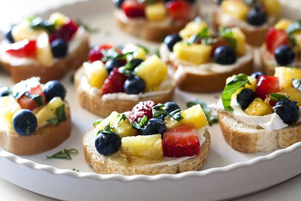 Lemon Fruit Bruschetta