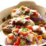 Monterey Chicken in a casserole dish