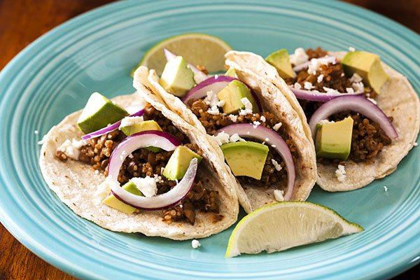Quinoa Lentil Tacos