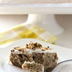 one slice of Zucchini Cake on a plate