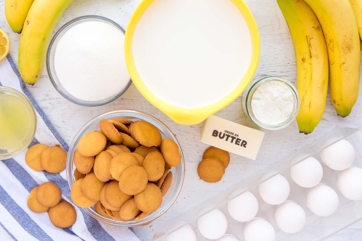Homemade Banana Pudding Recipe Ingredients