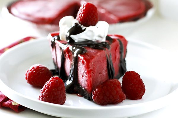 ... perfectly to make this Frozen Chocolate Raspberry Pie truly divine