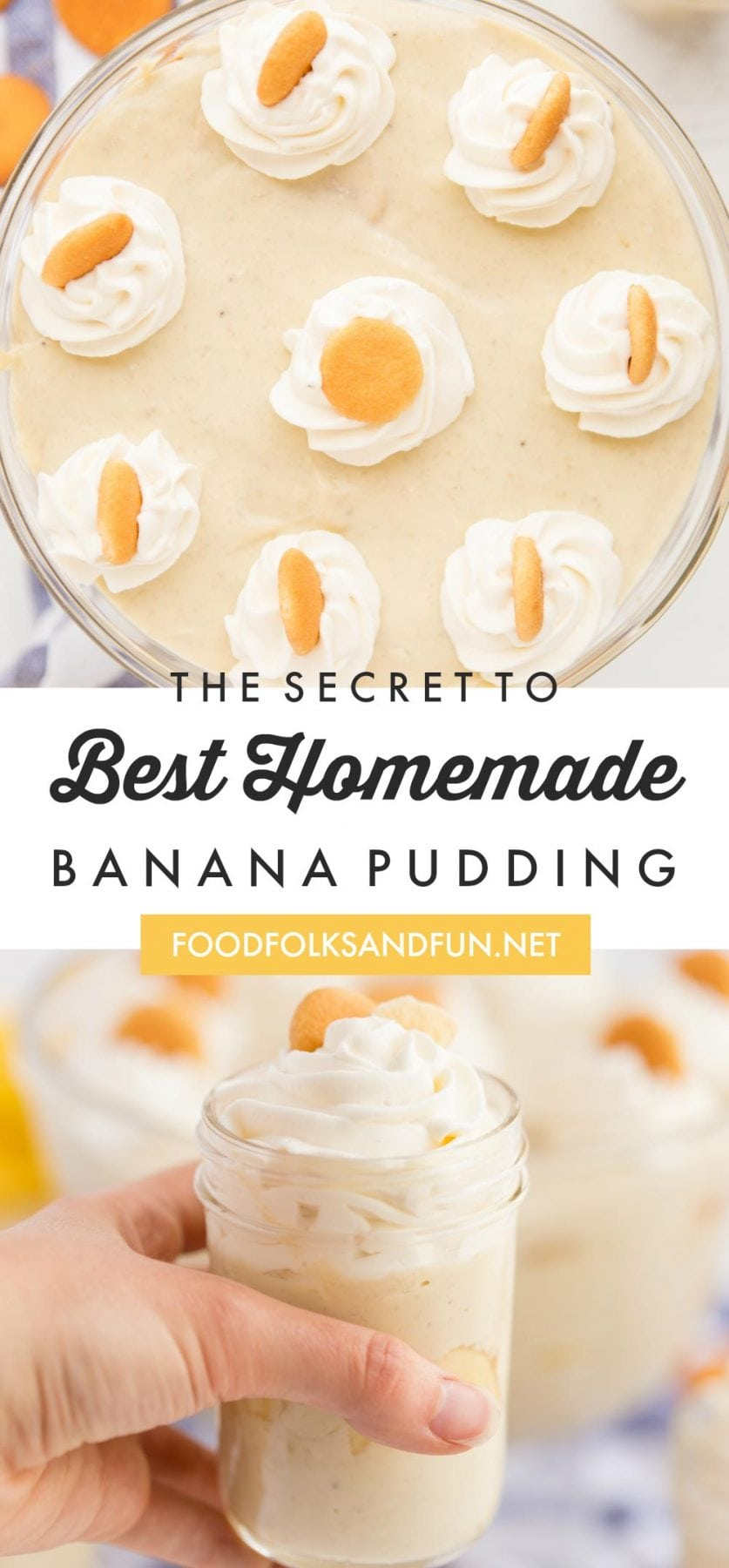 This Banana pudding is full of banana flavor just like it should be! Come and check out the secret to a fruity, homemade banana pudding recipe that will transcend you back to your childhood! via @foodfolksandfun