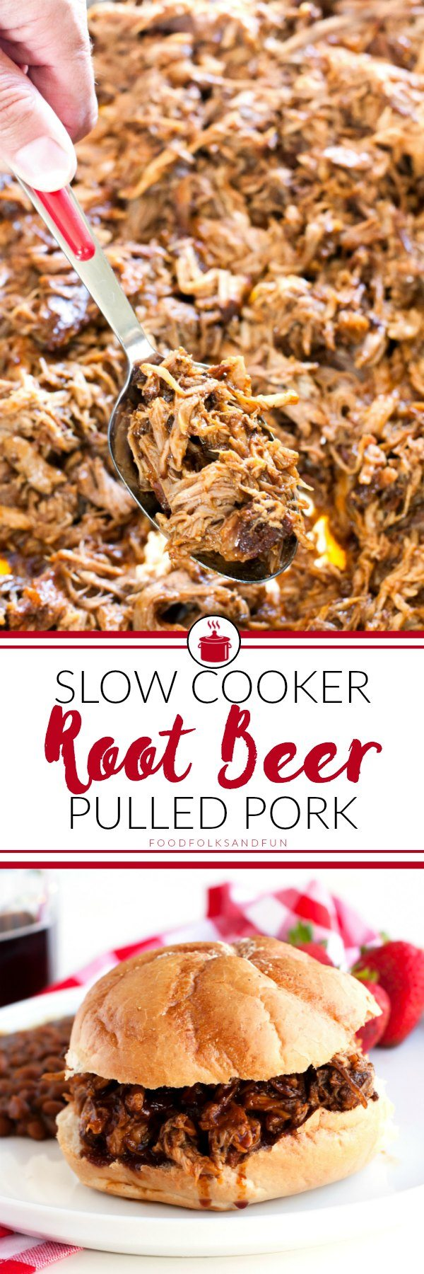 This Slow Cooker Root Beer Pulled Pork recipe is sweet, tangy, and completely delicious. It's perfect for entertaining, and the root beer barbecue sauce alone is worth the make!