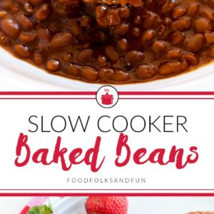 This Slow Cooker Boston Baked Beans recipe is everything baked beans should be: thick, saucy, savory with a touch of sweet. Come see how I made the classic Boston Baked Beans recipe easier by making it in the slow cooker!