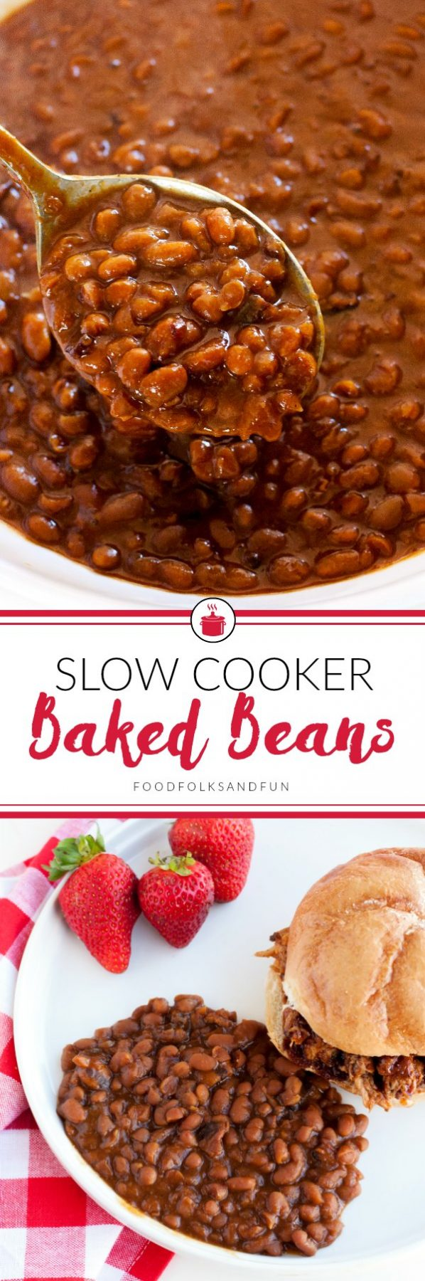 This Slow Cooker Boston Baked Beans recipe is everything baked beans ...