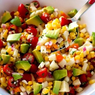 This Mexican Corn Salad recipe is a great side dish or appetizer.