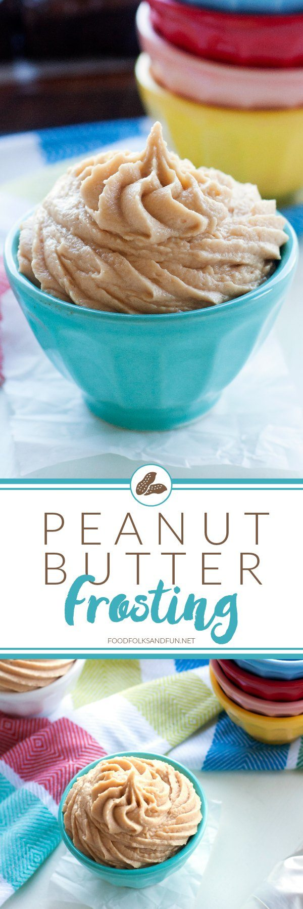 This peanut butter frosting is light, creamy, and it has just the right amount of sweetness. This recipe is the perfect frosting for brownies and chocolate cake!