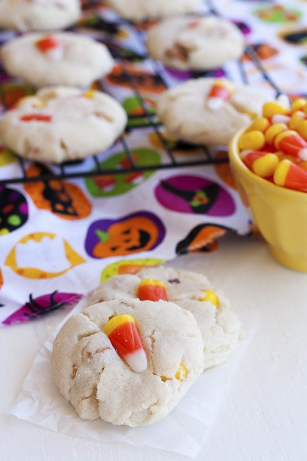 Sweet and Salty Candy Corn Cookies