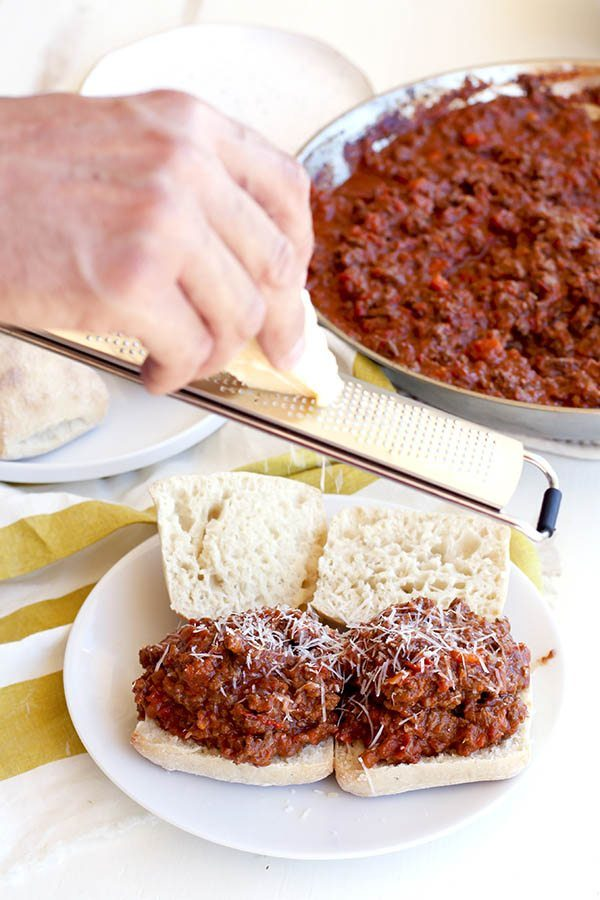 Easy Beef Bolognese Sloppy Joes Recipe