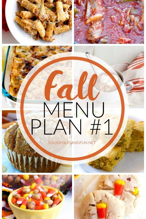 Fall Menu Plan #1 + Printable Shopping List