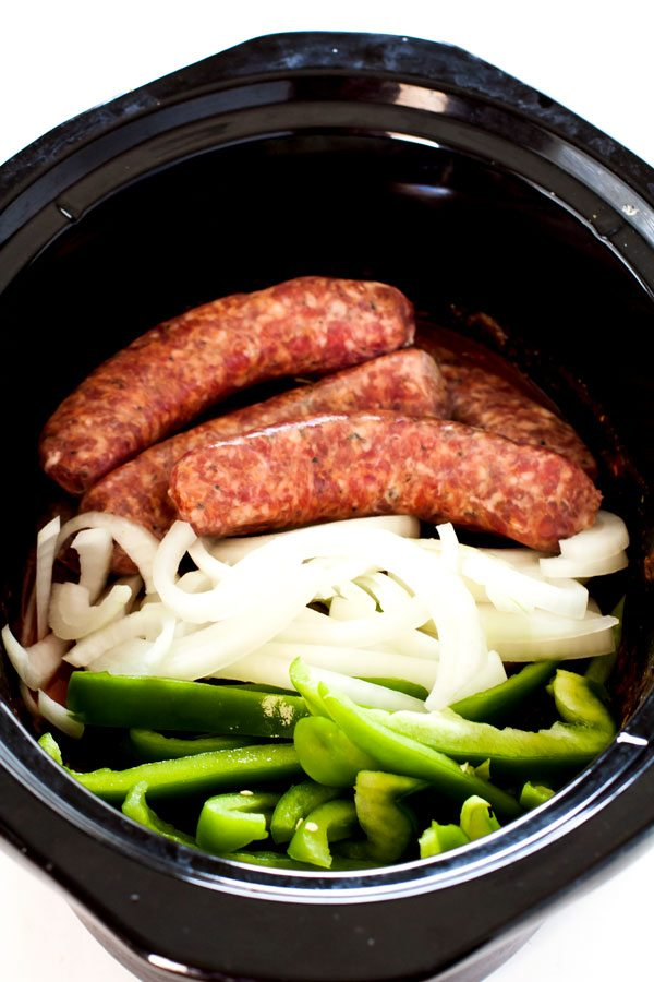 Sausage and Peppers is a classic Italian-American comfort food dish; I've added my own spin on it by cooking it in the slow cooker!
