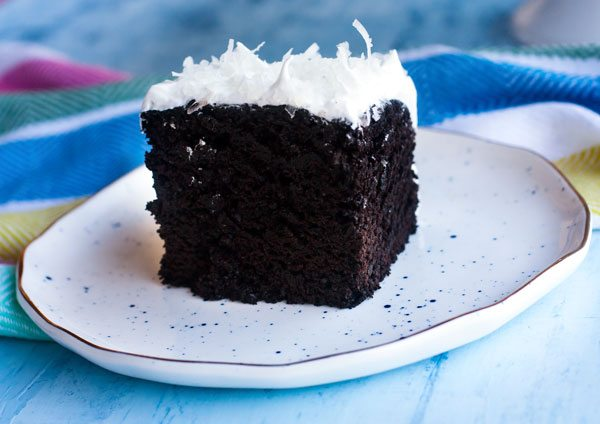 This is the best homemade Devil's Food Cake recipe I've ever tried, and it's covered in fluffy, thick and glossy 7 Minute Frosting. It make the perfect dessert anytime of the year!