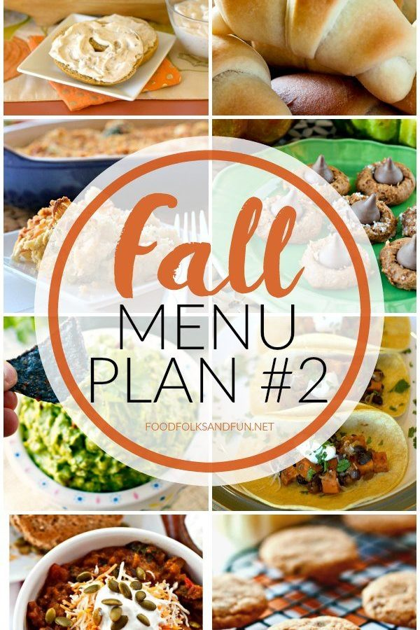 Fall Menu Plan #2