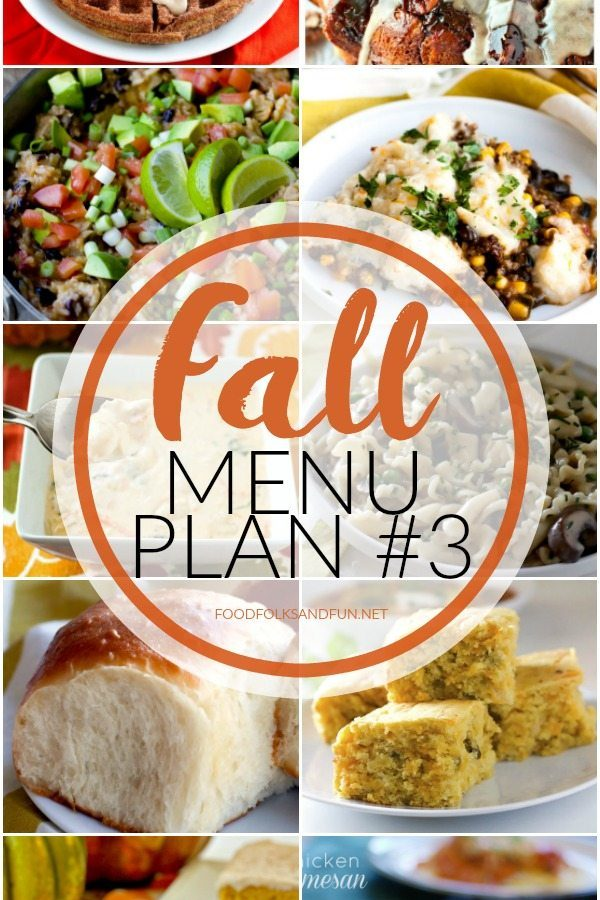 Fall Menu Plan #3