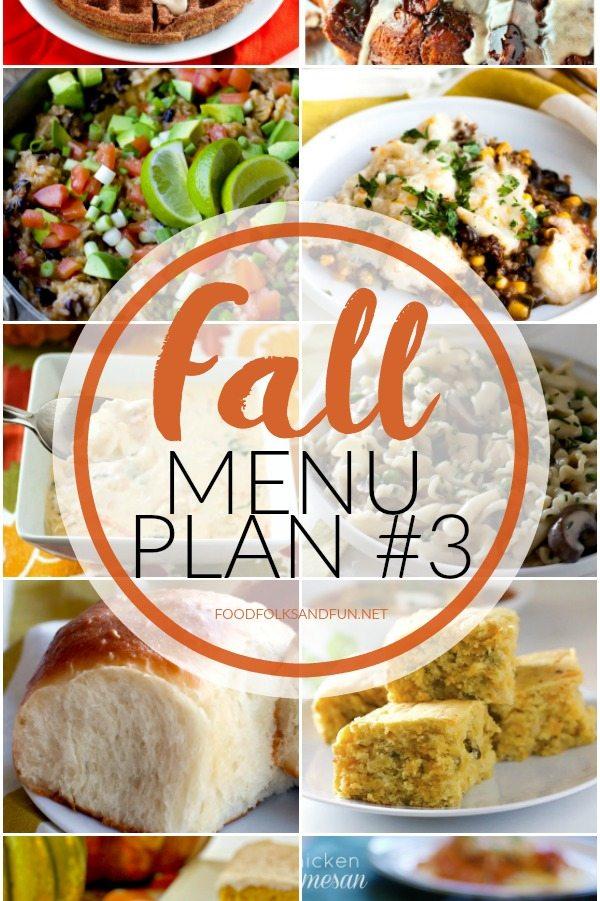 Fall Menu Plan #3