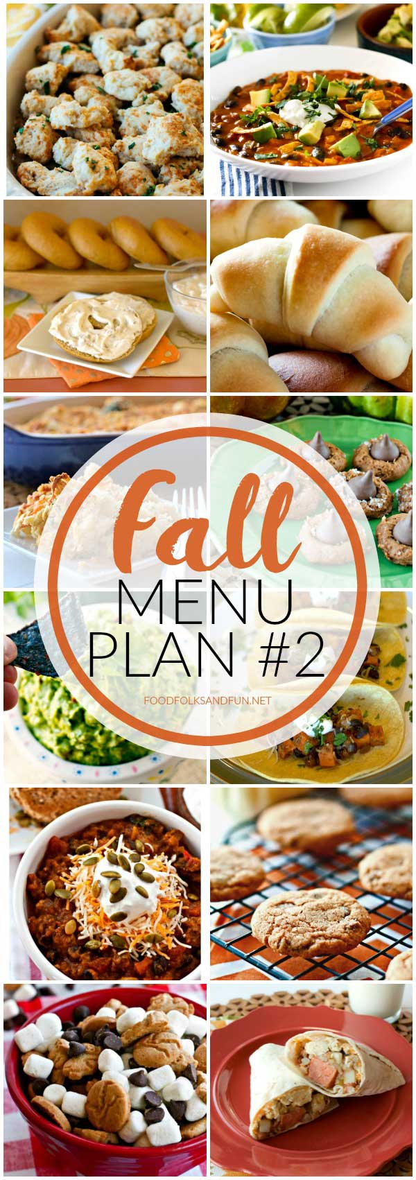 Your week just got a whole lot easier with this Fall Menu Plan #2! It includes 6 dinners, 3 snacks and treats, and 2 breakfast ideas that are all perfect for Fall!