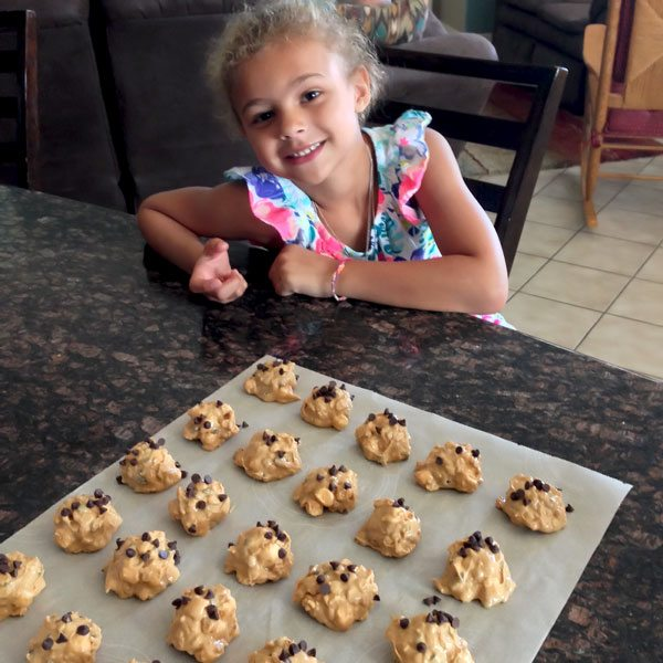 Daughter helping make these cookies.