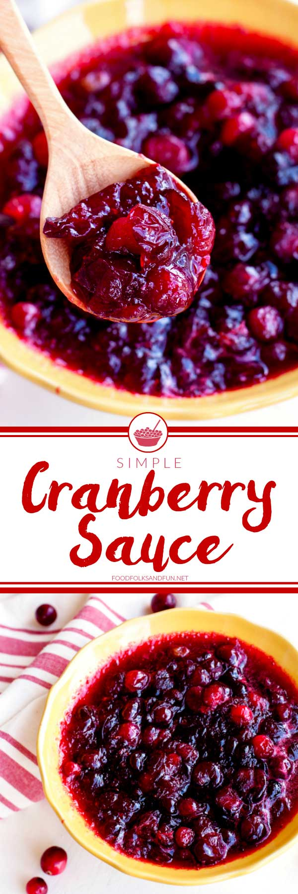 No Thanksgiving table is complete without Cranberry Sauce! You only need 4 ingredients to make this Simple Cranberry Sauce recipe; it really can't get any simpler.