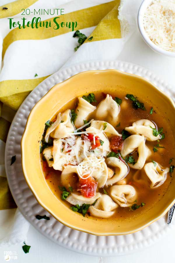 20 minute tortellini soup food folks and fun 20 minute tortellini soup is a great cold weather recipe for easy weeknight dinners forumfinder Image collections